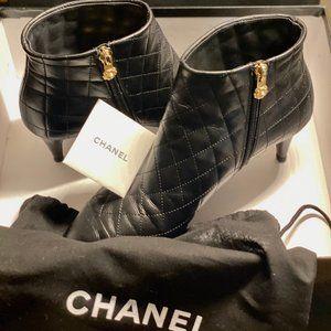 Chanel Short Black Boots